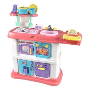 Fisher-Price Grow with Me Cook and Care Kitchen - Pink